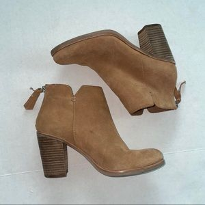 BP. Leather booties tan size 7 nordstrom